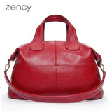 ZENCY Genuine Leather Shell Handbags - Bold and Beautiful
