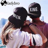 King. Queen. Printed Letters Snapback Baseball Cap - Bold and Beautiful