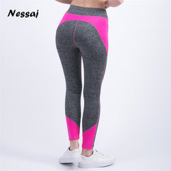Nessaj High Waist Fitness Leggings - Bold and Beautiful