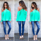 Off Shoulder Chiffon Tunic - Bold and Beautiful