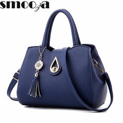SMOOZA Famous Brand Tassel Top-Handle Messenger Style Bag - Bold and Beautiful