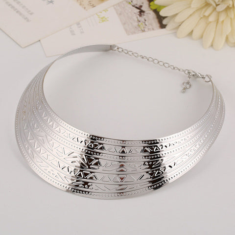 Fine & Find 2017 Fashion Bohemia Silver Color Maxi Collier Statement Necklace Punk Power Ethnic Choker Necklace Women Jewelry - Bold and Beautiful