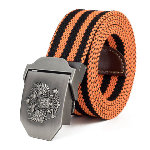 Russian National Emblem Canvas Tactical Belt - Bold and Beautiful