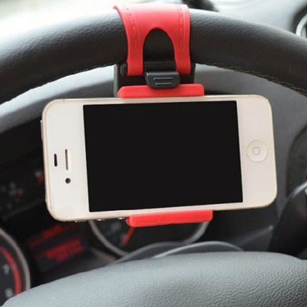 Universal Car Auto Steering Wheel socket navigate Case Holder Stand for iPhone 4 5 6 6S Plus border for cell phone GPS MP4 PDA - Bold and Beautiful