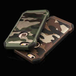 2 in 1 Army Camouflage Phone Cases For iPhone 4/4s/5/5s/SE/6/6s/7 Plus - Bold and Beautiful