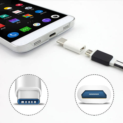 CARCASSI Top Quality Newest USB 3.1 Type-C Male Connector to Micro USB 2.0 5Pin Female Data Adapter Converter USB Type C Adapter - Bold and Beautiful