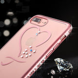Luxury Plating Bling Diamond Love Heart Shell Phone Cases For Iphone 7 - Bold and Beautiful