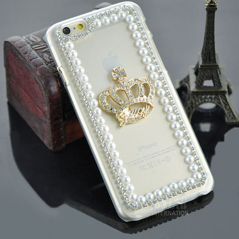 Rhinestone Crown Case for iPhone Models - Bold and Beautiful