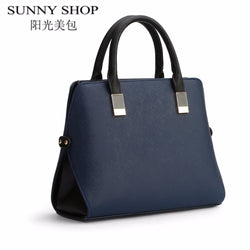 SUNNY SHOP brief leather bags handbags women famous brands shoulder bags female shell high quality women business bag sac a main - Bold and Beautiful