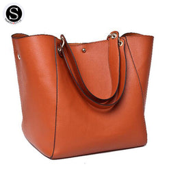 Senkey Style Bag Big Shoulder Leather Bucket - Bold and Beautiful