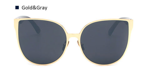 Oversize Frame Cat Eye Mirror Sunglasses - Bold and Beautiful