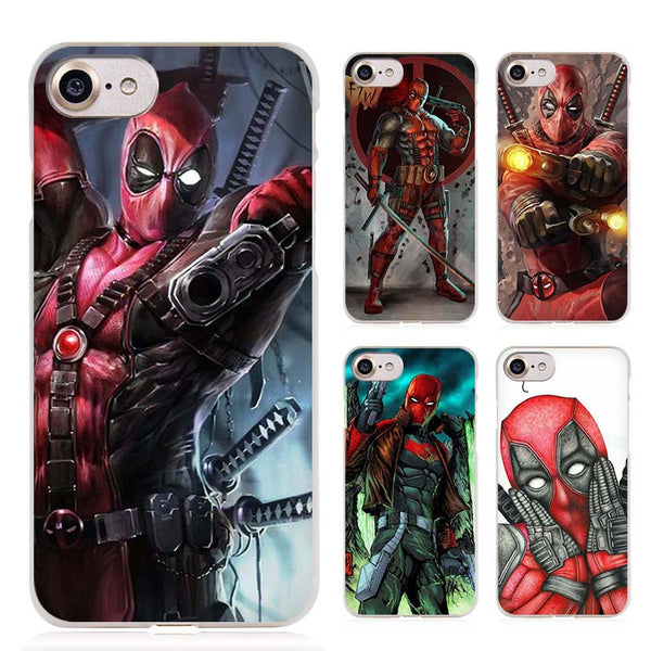 DC Comic Deadpool Clear Cell Phone Case Cover for Apple iPhone 4 4s 5 5s SE 5c 6 6s 7 Plus - Bold and Beautiful