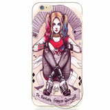 Margot Robbie Clown Harley Quinn Suicide Squad DC Comics Soft TPU Gel skin Phone Case Cover For iPhone 5 5s SE 6 6s Plus 7 7 Plu - Bold and Beautiful