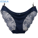 Mid-Rise Seamless Cotton Lace Panty - Bold and Beautiful