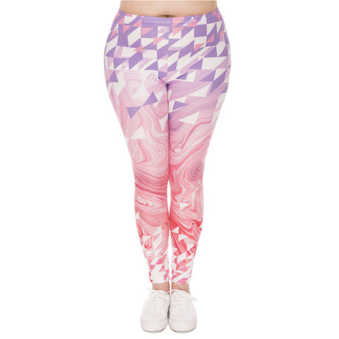 Pink Marble Printed Leggings - Bold and Beautiful