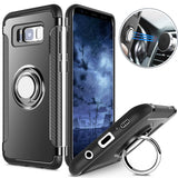 Magnetic Car Holder Finger Ring and Solid Case for Samsung Galaxy S8