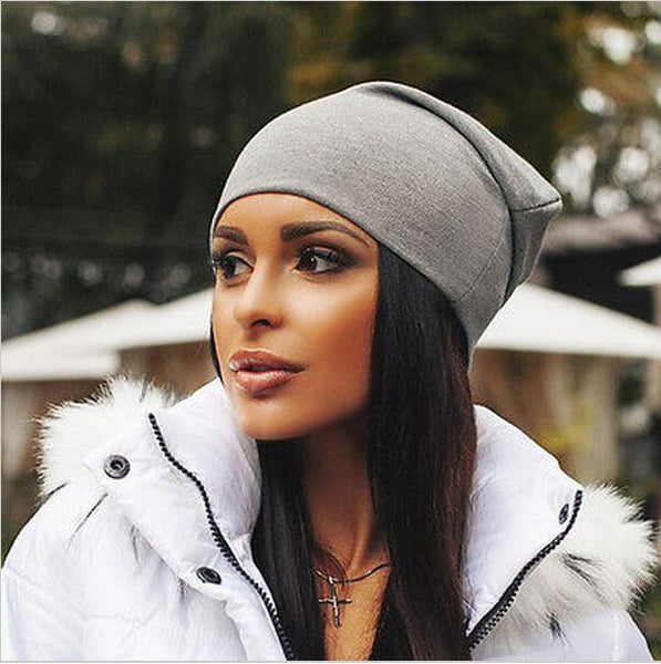 Unisex Solid Color Cotton Beanie - Bold and Beautiful