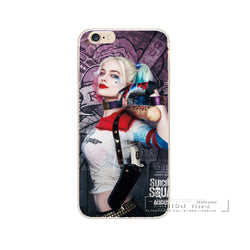 Phone Cases Jared Leto Joker Margot Robbie Harley Quinn Suicide Squad DC Comics Hard PC Cover For iPhone 5 5s 5c 6 6s 7 Plus SE - Bold and Beautiful