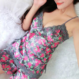 Silk Lace Floral Braded V-Neck Top Pajamas Set - Bold and Beautiful