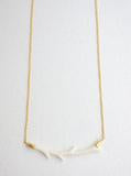 Bone Carved Branch Necklace