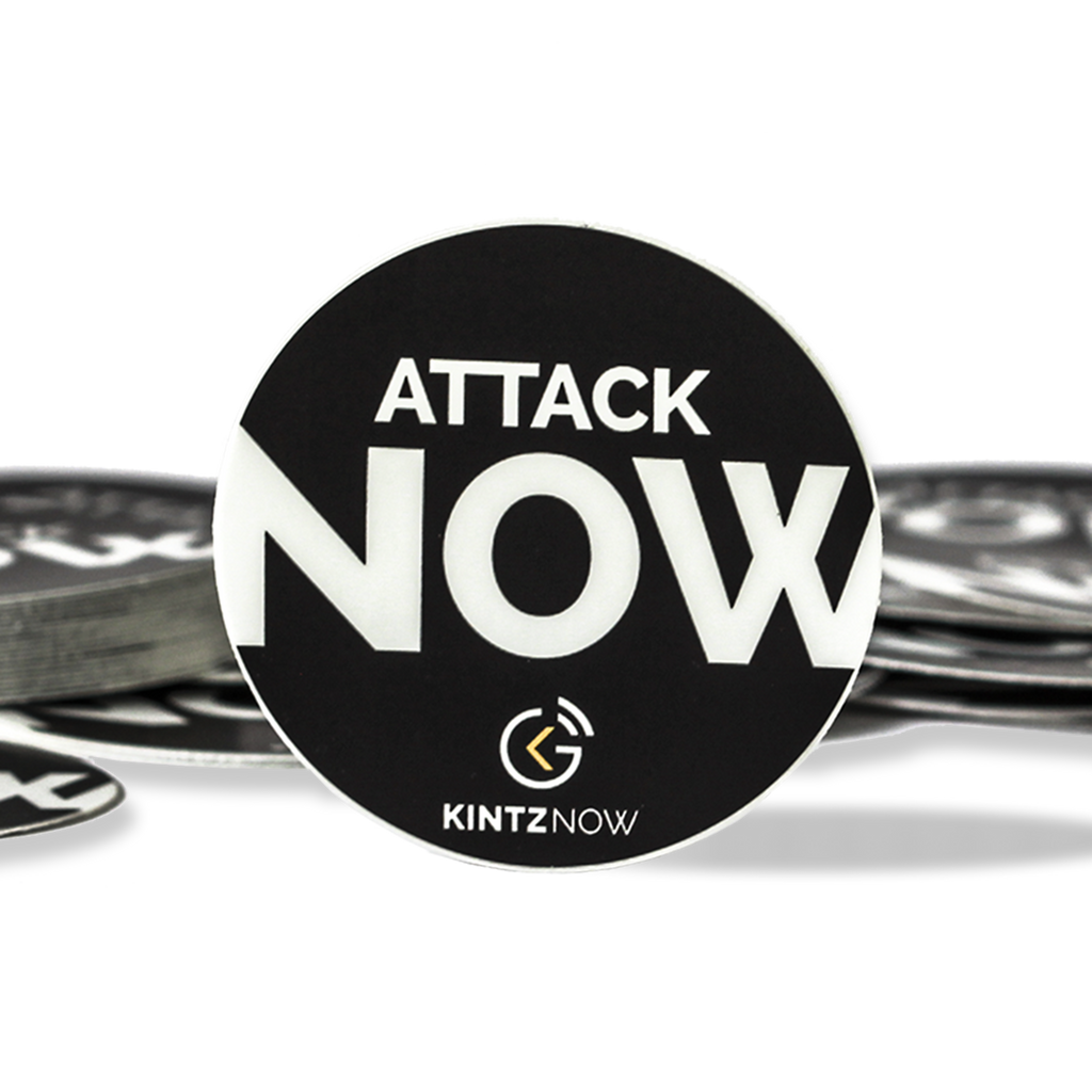 Tim Kintz Attack Now Single Sticker