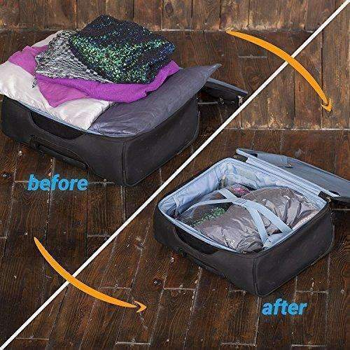 12 Travel Storage Bags For Clothes - Compression Bags For Travel - No Vacuum Sacks-Save Space In Your Luggage: Clothing & Closet Storage- Shop MIXXCI