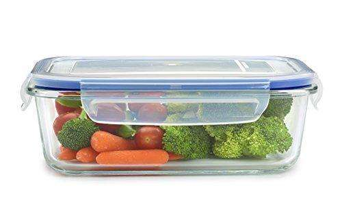 18 Piece Glass Food Storage Container Set - BPA Free - Use for Home, Kitchen and Restaurant - Snap On Lids Keep Food Fresh with Airtight Seal Safe for Dishwasher, Freezer, Microwave and Oven: Kitchen Storage & Organization- Shop MIXXCI