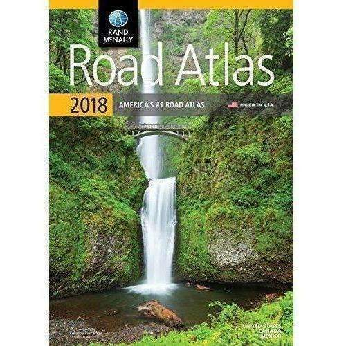 2018 Rand Mcnally Road Atlas (Rand Mcnally Road Atlas: United States, Canada, Mexico): New- Shop MIXXCI