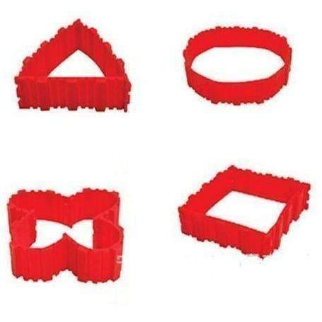 4Pcs/Set Silicone Cake Mold, Red: Bakeware- Shop MIXXCI