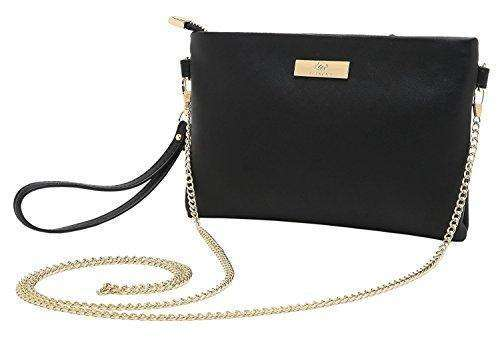Aitbags Soft PU Leather Wristlet Clutch Crossbody Bag with Chain Strap Cell Phone Purse: Womens Bags - Crossbody- Shop MIXXCI
