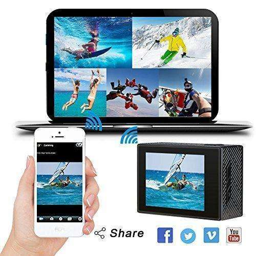 AKASO Brave 4 4K 20MP Wifi Action Camera Sony Sensor Ultra HD with EIS 30m Underwater Waterproof Camera Remote Sports Camcorder with 2 Batteries and Helmet Accessories Kit: Camera & Photo- Shop MIXXCI