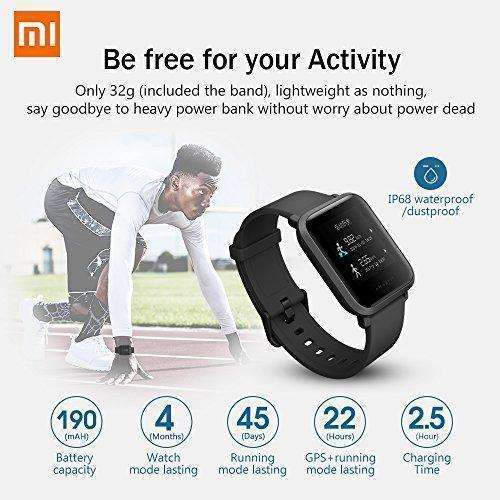 Amazfit Bip Smart Watch Heart Rate Monitor Fitness Tracker With Gps For  Sports Activity Router Ip68 Water Resistant Bluetooth Smart Wrist Support  Ios