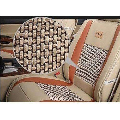 Amooca Vti Universal Front Rear Car Seat Cushion Cover Black&Beige 10Pcs Full Set Needlework Pu Leather Clearance Sale !!!: New- Shop MIXXCI