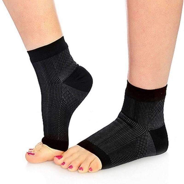 Anti-Fatigue Compression Foot Sleeve Sock (1 Pair), Black(S-M): Health care- Shop MIXXCI