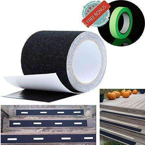 Anti Slip Tape Best Anti Skid Safety Tape Tread High Friction Strong Grip Abrasive - Improves Traction And Prevents Risk Of Slippage For Indoor Outdoor Stair Ramp 4''X16 Feet: New- Shop MIXXCI