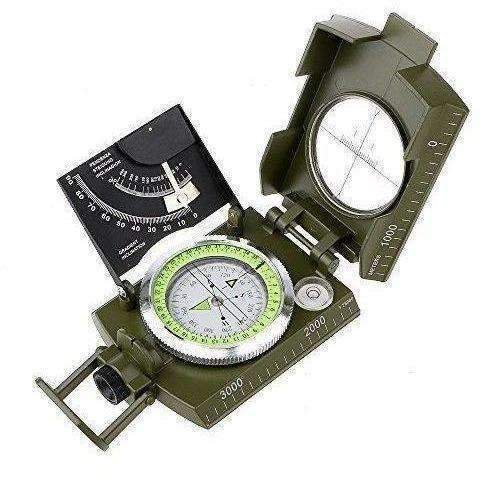 Archeer Professional Compass Metal Pocket Size Waterproof 50Mm Dial Compass Multifunction Military Army Sighting Compass With Inclinometer For Camping Hiking: New- Shop MIXXCI