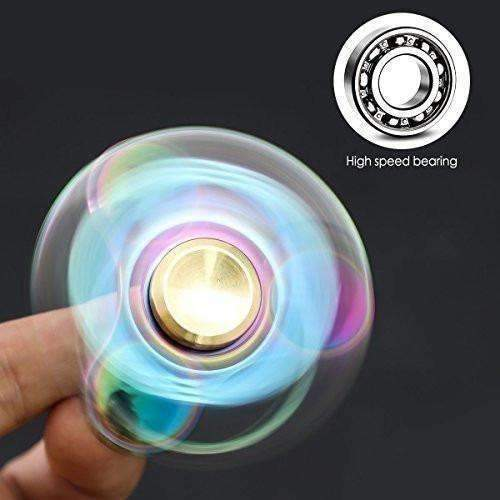Atesson Fidget Spinner Toy Ultra Durable Stainless Steel Bearing High Speed 3-5 Min Spins Precision Metal Hand Spinner Edc Adhd Focus Anxiety Stress Relief Boredom Killing Time Toys: Toys- Shop MIXXCI