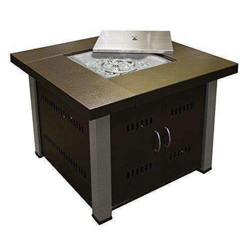 Az Patio Heaters Fire Pit, Propane In Two Tone Hammered Bronze And Stainless Steel: Fire Pits & Outdoor Fireplaces- Shop MIXXCI