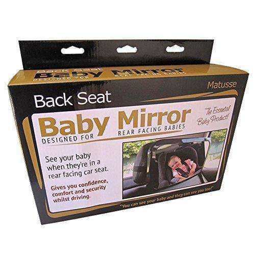 Baby Car Mirror | View Rear facing Infant in Back Seat | Registry or Baby Shower Gift | Essential Baby Product | Best Newborn Safety | Largest and Most Stable Mirror, Shatterproof & Clear Reflection: Automotive Interior Accessories- Shop MIXXCI