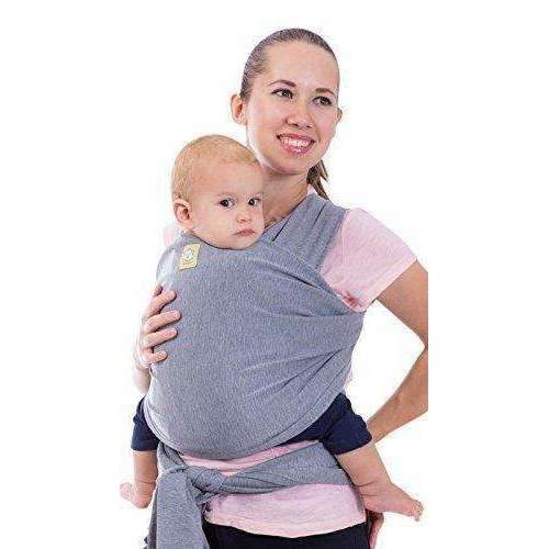 Baby Wrap Carrier By Keababies - All-In-1 Stretchy Baby Wraps - Baby Sling - Infant Carrier - Babys Wrap - Hands Free Babies Carrier Wraps | Great Baby Shower Gift (Gray): Outdoor Recreation- Shop MIXXCI