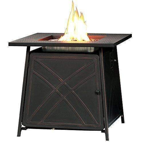 "Bali Outdoors Propane Gas Fire Pit 28"" Square Table 50,000Btu Patio Heaters Fire Pit: Fire Pits & Outdoor Fireplaces- Shop MIXXCI"