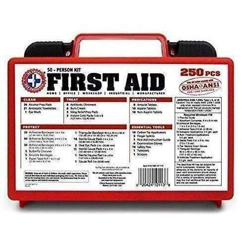 """Be Smart Get Prepared 250 Piece First Aid Kit, Exceeds Osha Ansi Standards For 50 People - Office, Home, Car, School, Emergency, Survival, Camping, Hunting, And Sports "": New- Shop MIXXCI"