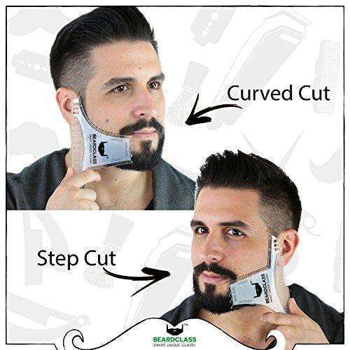 BEARDCLASS - Beard Shaping Tool - 6 in 1 Comb Multi-liner Beard Shaper Template Comb Kit Transparent - Bonus Items Included - Works with any Beard Razor Electric Trimmers or Clippers - (Clear): Mens Shaving & Hair Removal- Shop MIXXCI