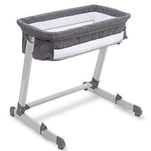 Beautyrest Deluxe By The Bed Bassinet, Grey Tweed: Bassinet- Shop MIXXCI