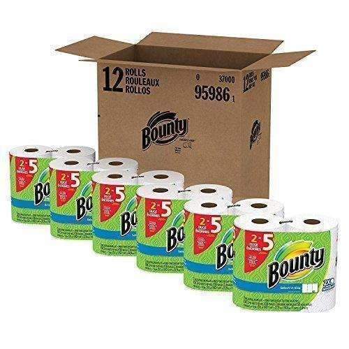 Bounty Select-A-Size Paper Towels, White, 12 Huge Rolls: Health & Household- Shop MIXXCI