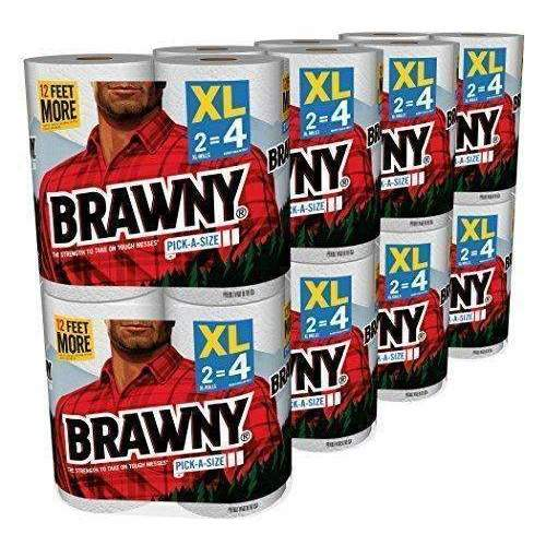 Brawny Pick-A-Size Paper Towels, White, Xl Rolls, Pack Of 16 Count: Health & Household- Shop MIXXCI