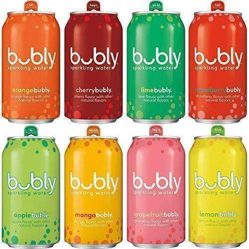 Bubly Sparkling Water Sampler, Variety Pack, All 8 Flavors, 12 Ounce Cans (18 Count): Grocery & Gourmet Food- Shop MIXXCI