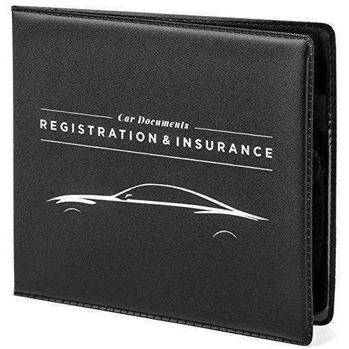 Car Documents Holder For Insurance, Dmv, Registration, Aaa, Auto Club, For Car Truck Suv, Motorcycle, Velcro Closure, Safely Store Important Documents In Glove Box Or Visor Flap. Stress Reducing.: - Shop MIXXCI