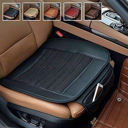 Car Seat Cushion,Suninbox Car Interior Seat Covers Pad Mat[Bamboo Charcoal]Breathable Comfortable Cushion,Anti-Skid Leather Four Seasons General Car Seat Protector[Black]: New- Shop MIXXCI