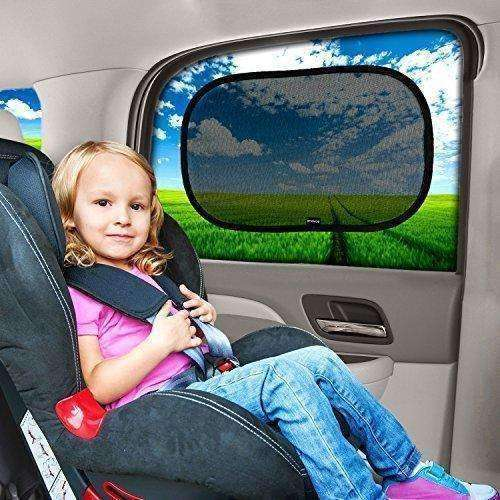 "Car Window Shade - (3 Pack ) - 19""x12"" Cling Sunshade For Car Windows - Sun, Glare And UV Rays Protection For Your Child - Baby Side Window Car Sun Shades By Enovoe: Automotive Interior Accessories- Shop MIXXCI"